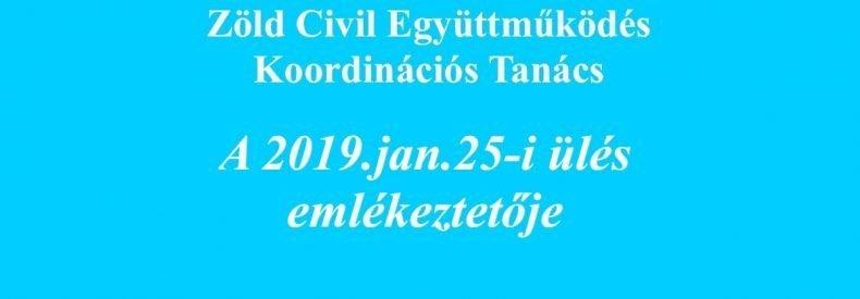 KT ülés emlékeztető (2019.01.25.)