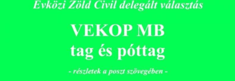 Évközi tag és póttag delegált választás a VEKOP Monitoring Bizottságba